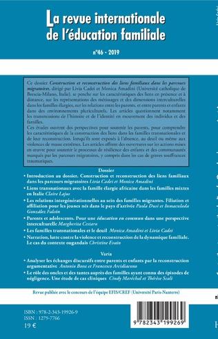 4eme Construction et reconstruction des liens familiaux dans les parcours migratoires