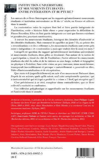 4eme Institution universitaire et mouvements étudiants : entre intégration et rupture ?