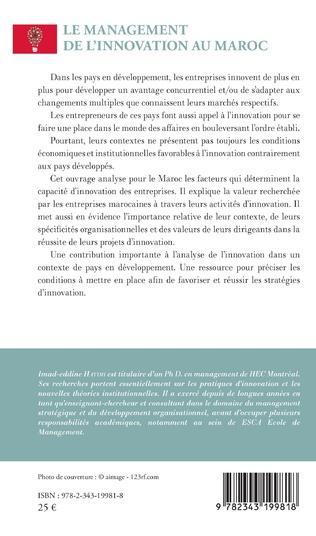 4eme Le management de l'innovation au Maroc