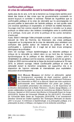 4eme Conflictualité politique et crise de rationalité durant la transition congolaise