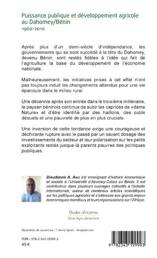 4eme Puissance publique et développement agricole au Dahomey / Bénin 1960-2010