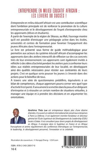 4eme Entreprendre en milieu éducatif africain : les leviers du succès !