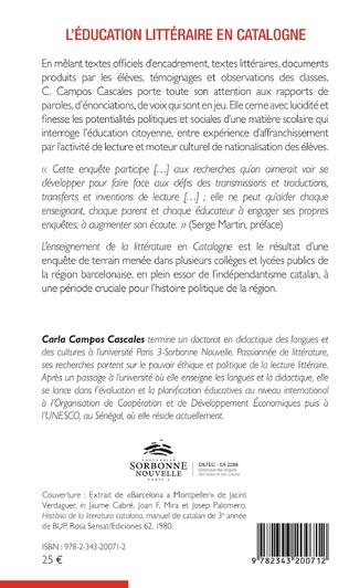 4eme L'éducation littéraire en Catalogne