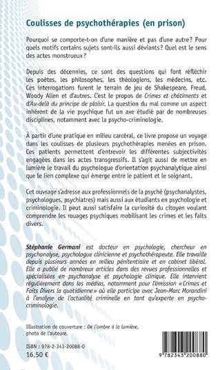 4eme Coulisses de psychothérapies (en prison)