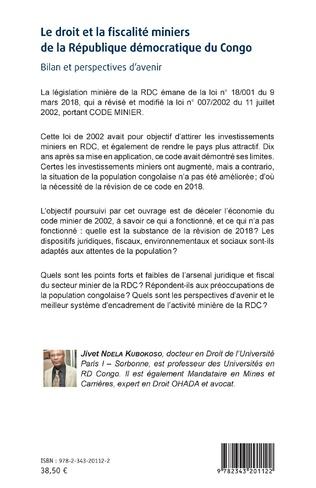 4eme Le droit et la fiscalité miniers de la République démocratique du Congo