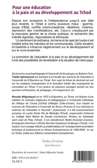 4eme Pour une éducation à la paix et au développement au Tchad