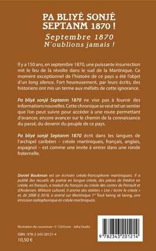 4eme Pa Bliyé Sonjé Septanm 1870 !