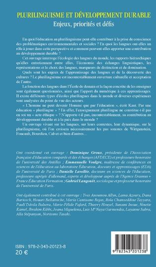 4eme Plurilinguisme et développement durable
