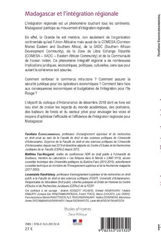 4eme Madagascar et l'intégration régionale