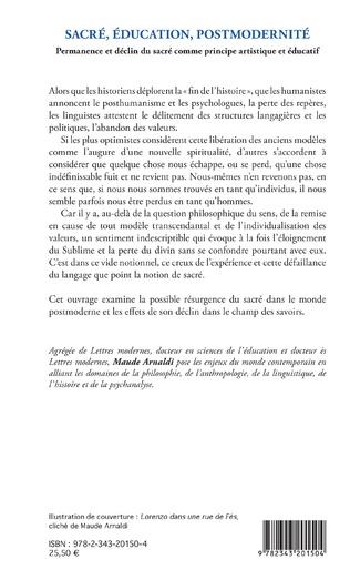 4eme Sacré, éducation, postmodernité