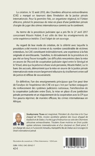 4eme Les chambres africaines extraordinaires et la répression des crimes internationaux en Afrique
