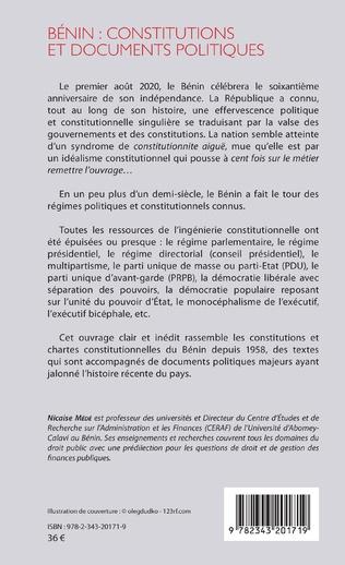 4eme Bénin : constitutions et documents politiques