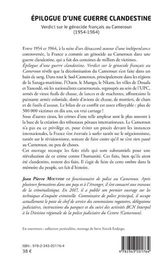 4eme Épilogue d'une guerre clandestine. Verdict sur le génocide français au Cameroun (1954-1964)