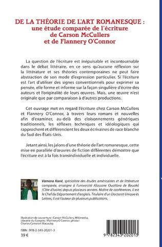 4eme De la théorie de l'art romanesque : une étude comparée de l'écriture de Carson McCullers et de Flannery O'Connor