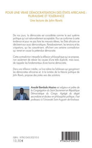 4eme Pour une vraie démocratisation des États africains : pluralisme et tolérance