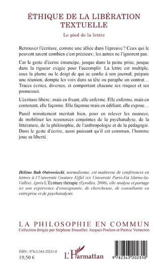 4eme ÉTHIQUE DE LA LIBÉRATION TEXTUELLE