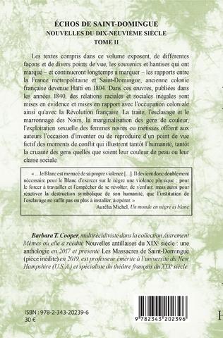 4eme Echos de Saint-Domingue Tome II