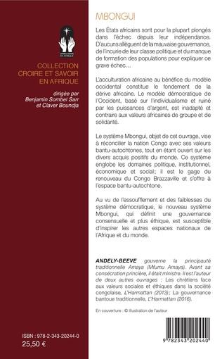 4eme Mbongui. Le système politique et économique pour le renouveau du Congo