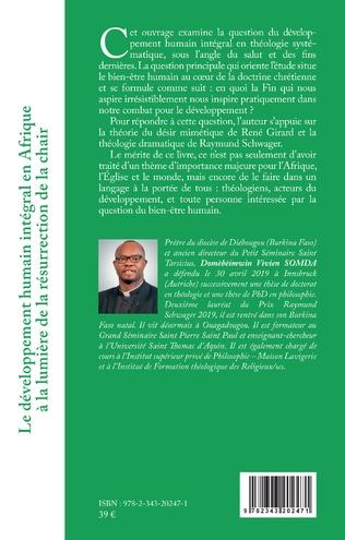 4eme Le développement humain intégral en Afrique à la lumière de la résurrection de la chair
