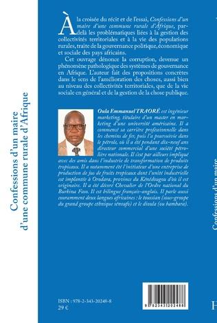 4eme Confessions d'un maire d'une commune rurale d'Afrique