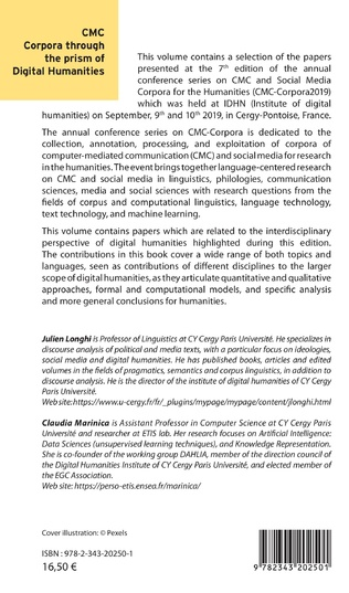 4eme CMC Corpora through the prism of digital humanities