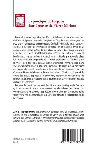 4eme La poétique de l'espace dans l'oeuvre de Pierre Michon