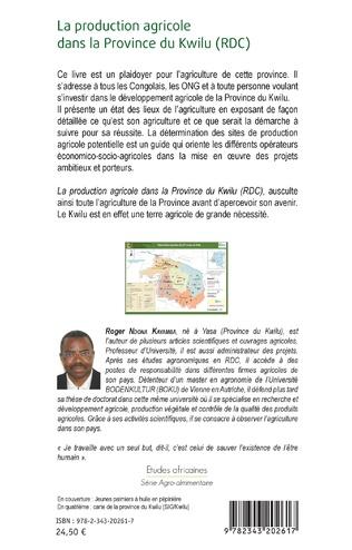 4eme La production agricole dans la Province du Kwilu (RDC)