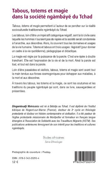 4eme Tabous, totems et magie dans la société ngàmbáye du Tchad