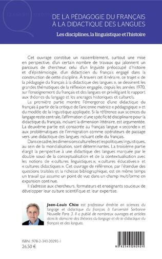 4eme DE LA PÉDAGOGIE DU FRANCAIS À LA DIDACTIQUE DES LANGUES