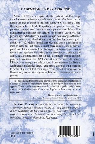 4eme Mademoiselle de Cardonne