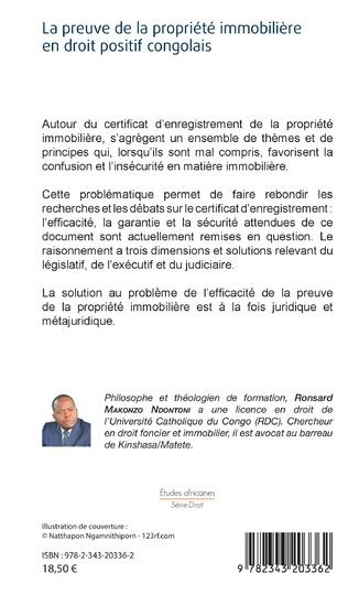 4eme La preuve de la propriété immobilière en droit positif congolais