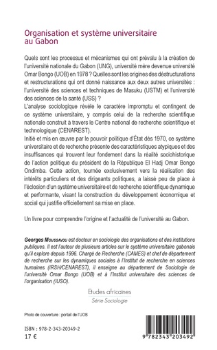 4eme Organisation et système universitaire au Gabon