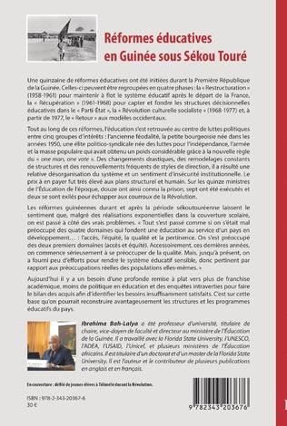 4eme Réformes éducatives en Guinée sous Sékou Touré