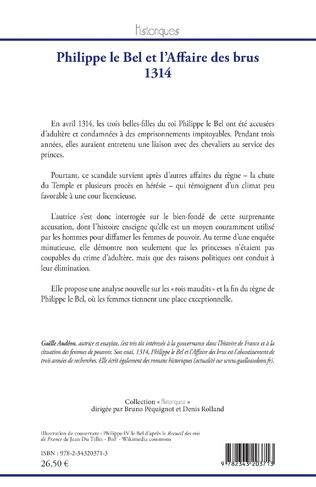 4eme Philippe le Bel et l'Affaire des brus