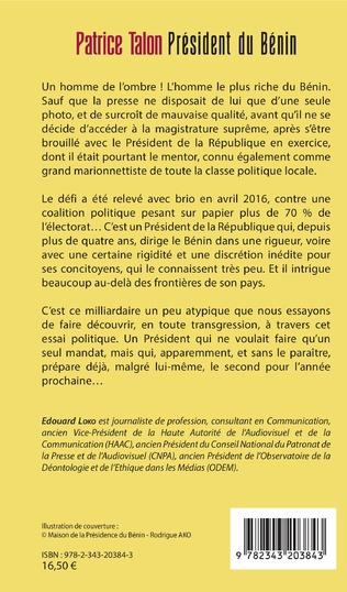 4eme Patrice Talon, Président du Bénin