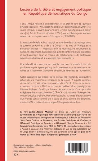 4eme Lecture de la Bible et engagement politique en République démocratique du Congo