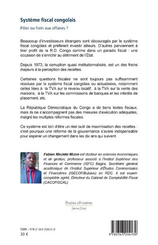 4eme Système fiscal congolais. Pilier ou frein aux affaires ?