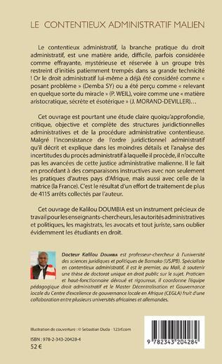 4eme Le contentieux administratif malien