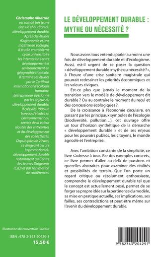 4eme Le développement durable : mythe ou nécessité ?