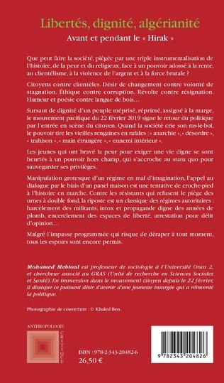 4eme Libertés, dignité, algérianité