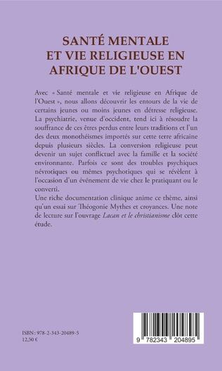 4eme Santé mentale et vie religieuse en Afrique de l'Ouest