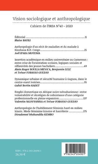 4eme Vision sociologique et anthropologique