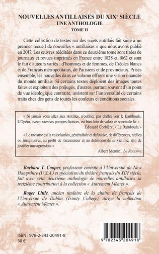 4eme Nouvelles antillaises du XIXe siècle