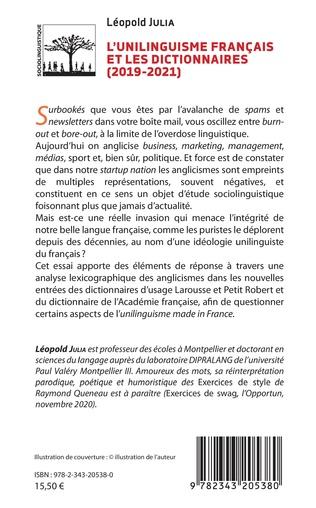4eme L'unilinguisme français et les dictionnaires (2019-2021)