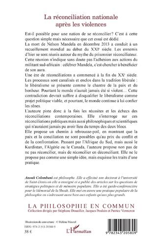 4eme La réconciliation nationale après les violences