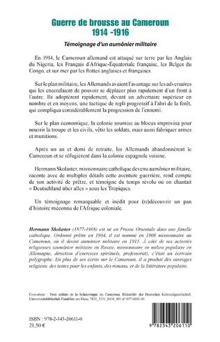 4eme Guerre de brousse au Cameroun 1914-1916