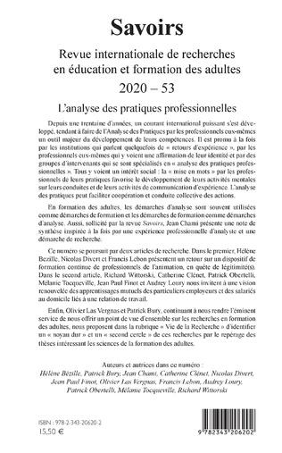 4eme L'analyse des pratiques professionnelles