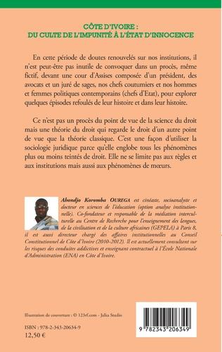 4eme Côte d'Ivoire : du culte de l'impunité à l'État d'innocence