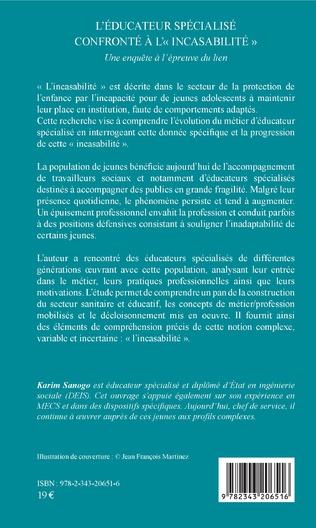 4eme L'éducateur spécialisé confronté à l'«incasabilité»