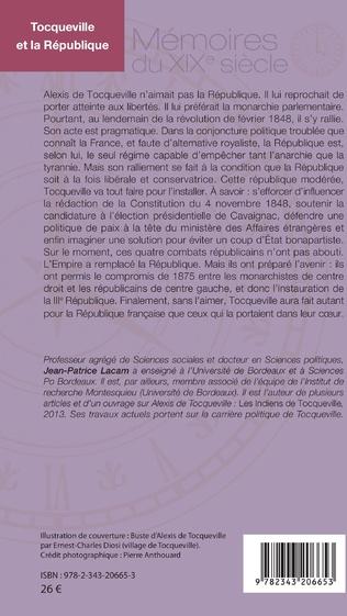 4eme Tocqueville et la République